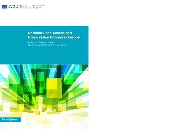 7th Framework                            Programme                        National open access and                        ...