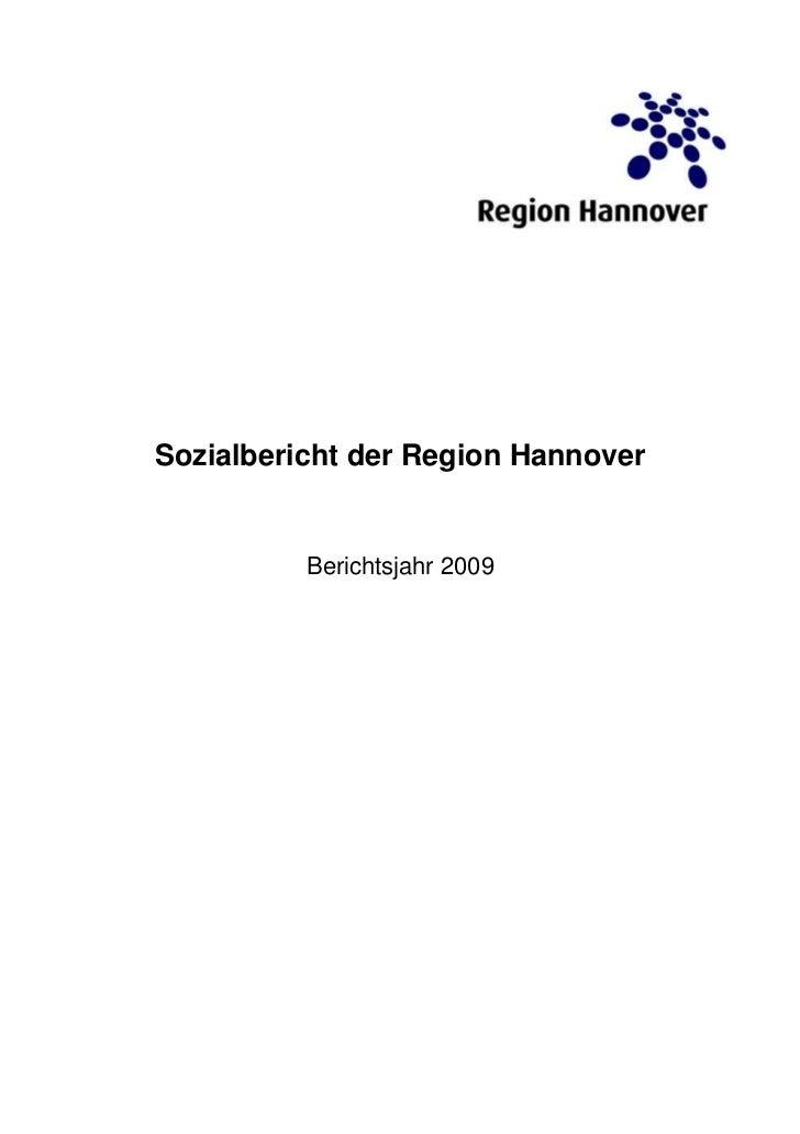 Sozialbericht der Region Hannover          Berichtsjahr 2009