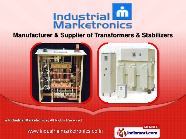 Manufacturer & Supplier of Transformers & Stabilizers