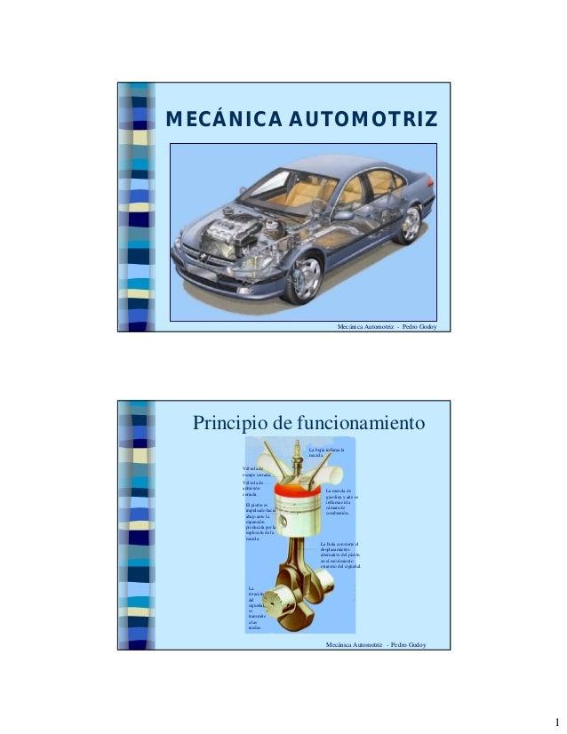 1  MECÁNICA AUTOMOTRIZ  Mecánica Automotriz - Pedro Godoy  Principio de funcionamiento  Mecánica Automotriz - Pedro Godoy ...