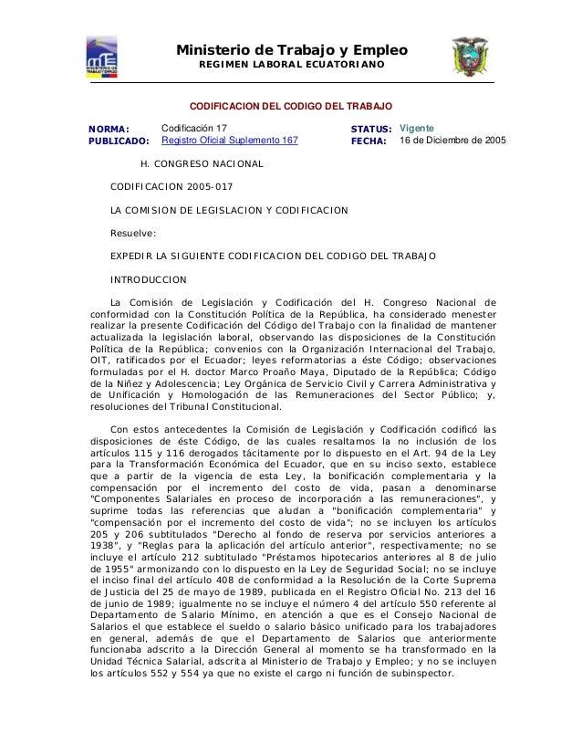 18671394 codigo laboral ecuatoriano ministerio del trabajo for Ministerios del ecuador
