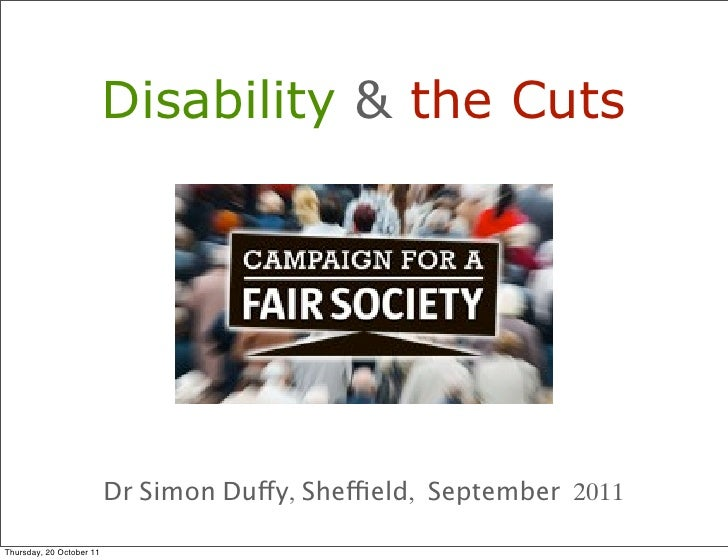 (186) disability & the cuts (september 2011)