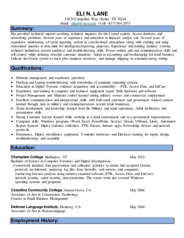 detective application letter