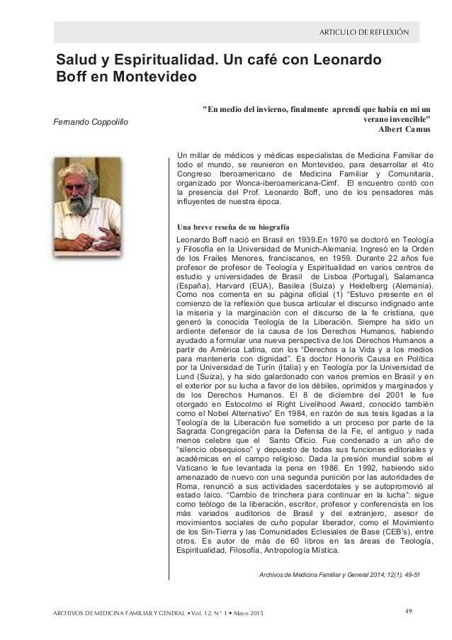 aaaa ARTICULO DE REFLEXIÓNalab aslaeSes Salud y Espiritualidad. Un café con Leonardo Boff en Montevideo Fernando Coppolil...