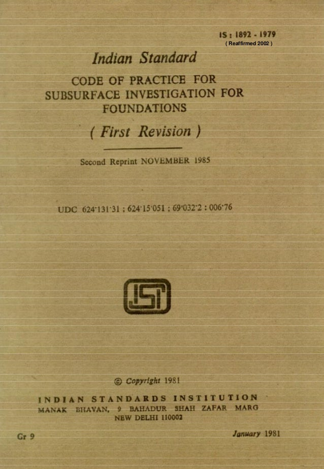 1892 soil investigation for foundations
