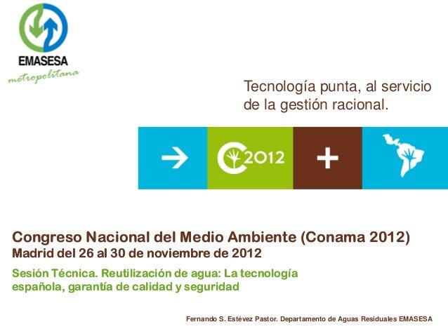 Importancia del sector industrial español en las aguas regeneradas