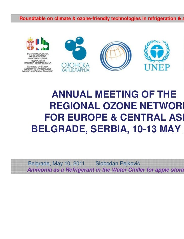 Roundtable on climate & ozone-friendly technologies in refrigeration & air-conditioning        ANNUAL MEETING OF THE      ...