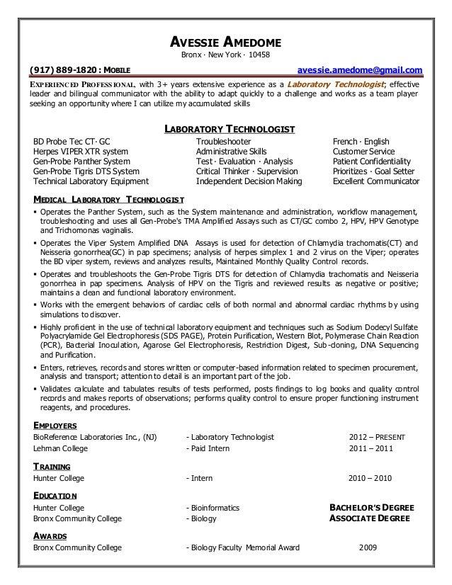 Lab Technician Resume Samples VisualCV Resume Samples Database Laboratory  Technician Resume Sample Automotive Technician Resume Resume