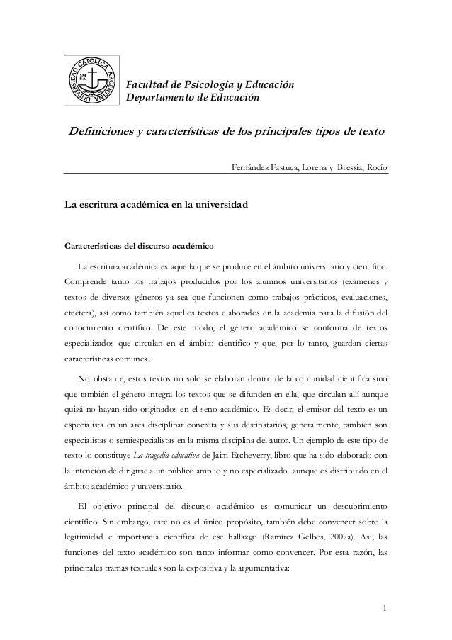 32 Facultad de Psicología y Educación Departamento de Educación Definiciones y características de los principales tipos de...