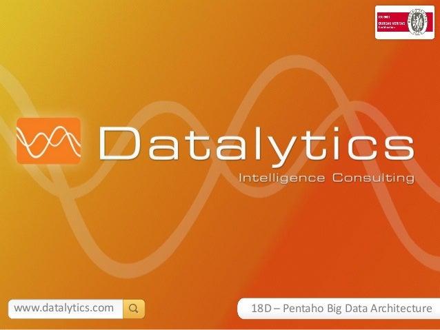 www.datalytics.com   18D – Pentaho Big Data Architecture