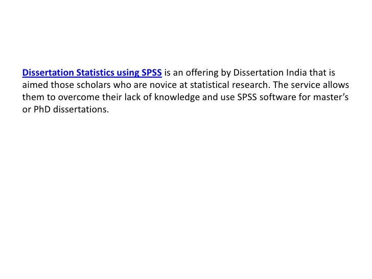Dissertation Spss Help