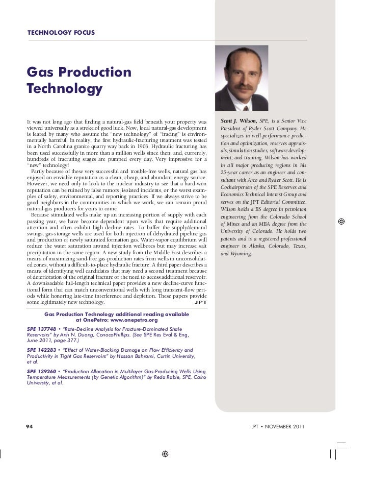 Gas Production Technology