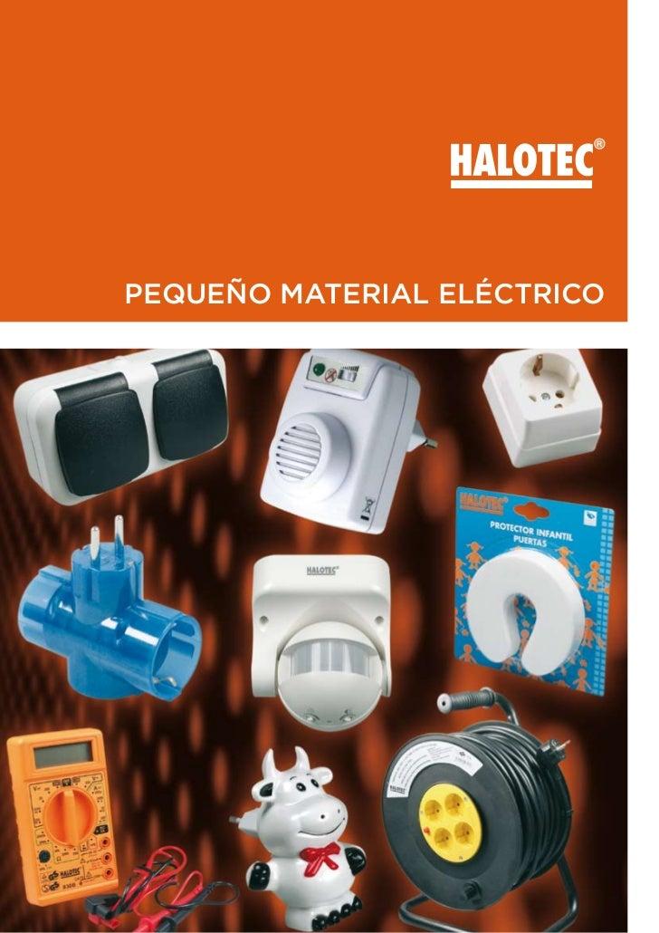 Halotec pequeño material electrico