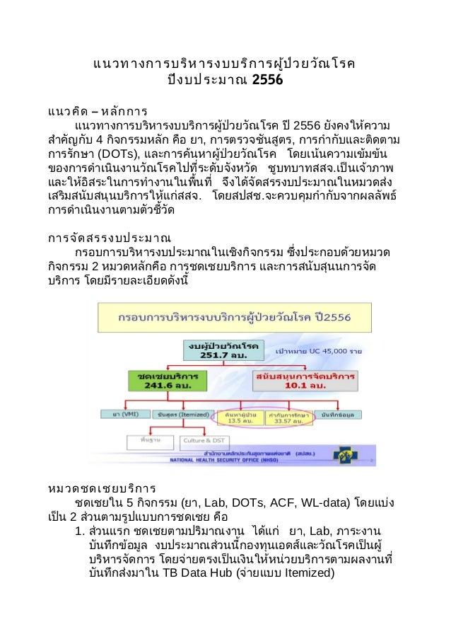 18 oct 55 แนวทางการบริหารงบ tb ปี 56
