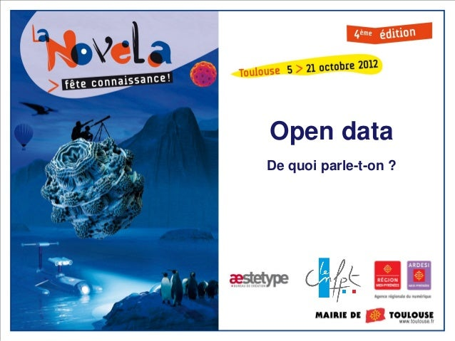 Open dataDe quoi parle-t-on ?
