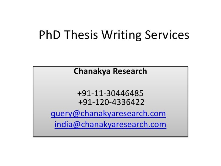 Phd thesis writing services hyderabad