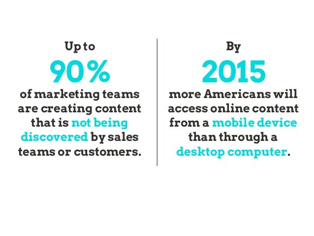 By 2015 more Americans will access online content from a mobile device than through a desktop computer. Up to 90% of marke...