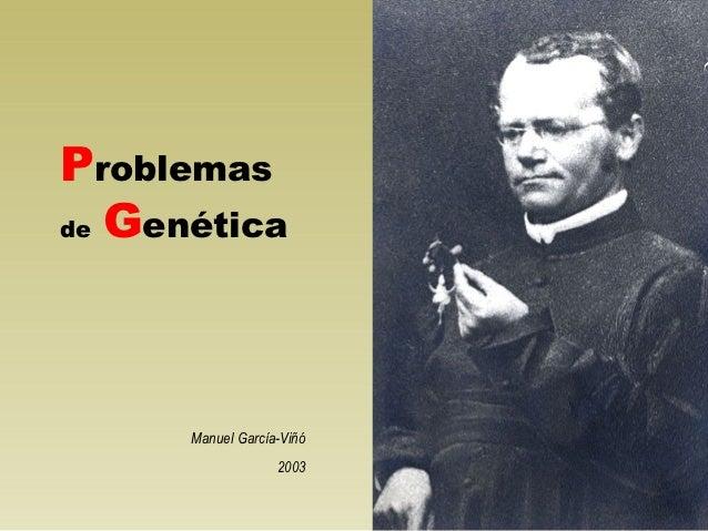 18 problemas de genética