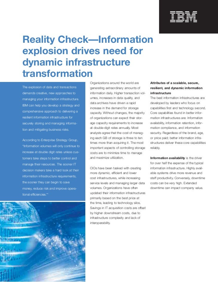 Reality Check—Informationexplosion drives need fordynamic infrastructuretransformation                                    ...
