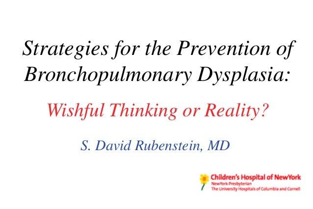 Strategies for the Prevention of Bronchopulmonary Dysplasia: Wishful Thinking or Reality?