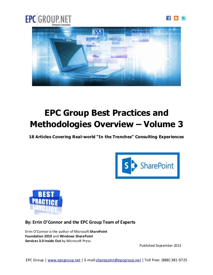 18 SharePoint Best Practice and In-Depth Methodologies - EPC Group