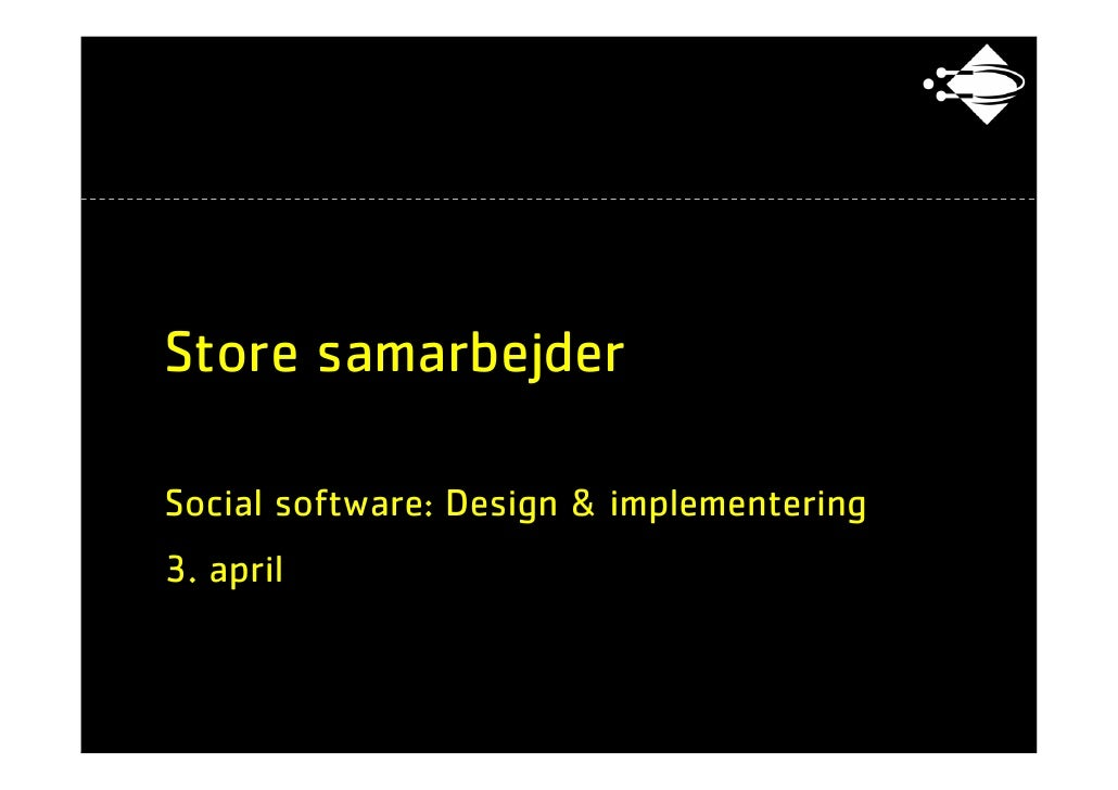 ITU - Social software: 18 Storesamarbejder