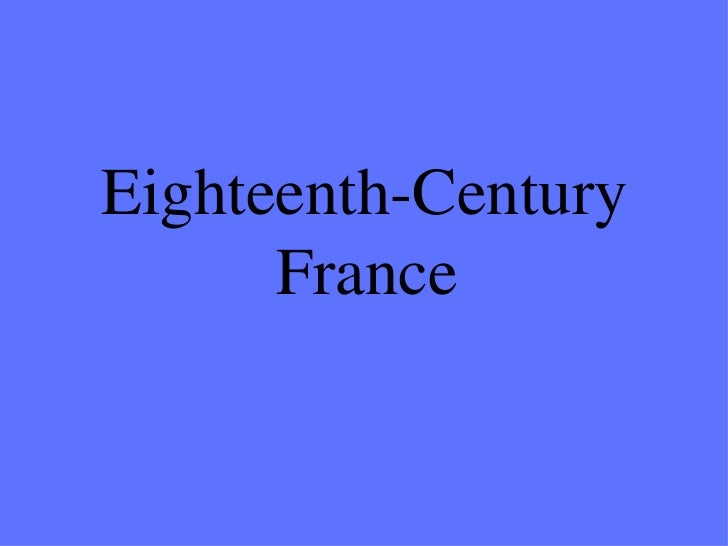 Eighteenth-Century France