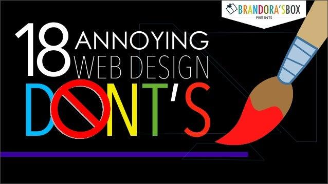 18 ANNOYING WEB DESIGN DONT'S!