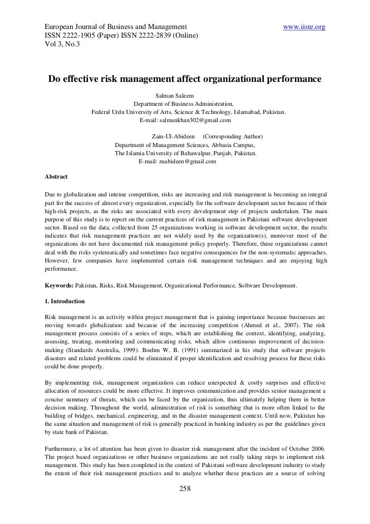 European Journal of Business and Management                                                     www.iiste.orgISSN 2222-190...
