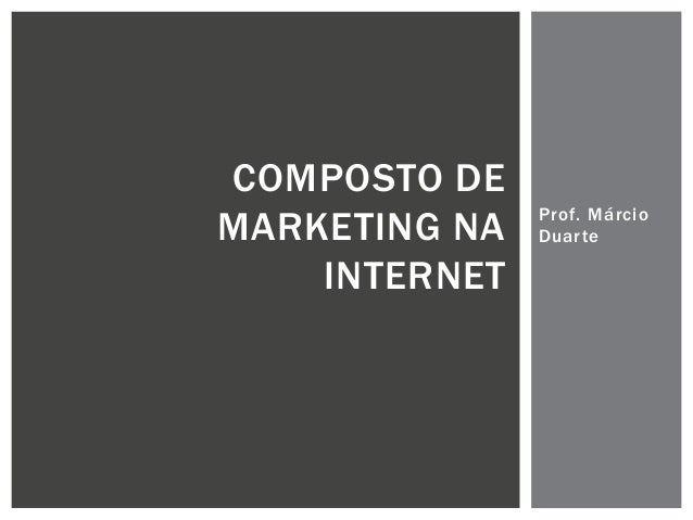 Composto de Marketing na Internet