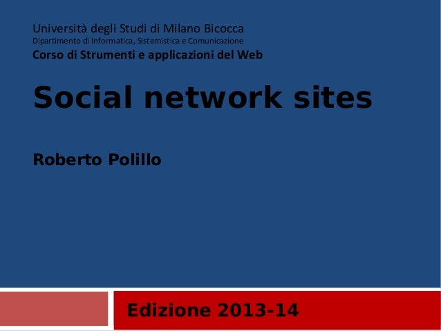 19. Social network sites