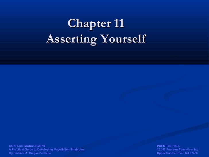 19. assertion and negotiation tool to conflict mgmt