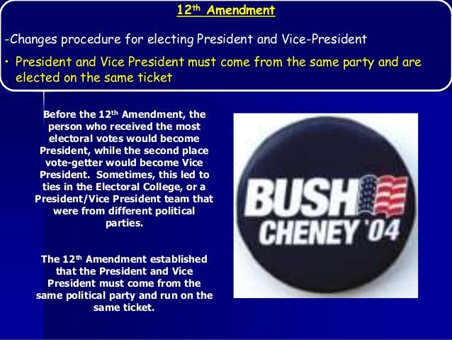 what amendment established presidential succession 1