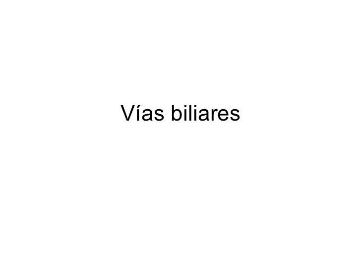 Vías biliares