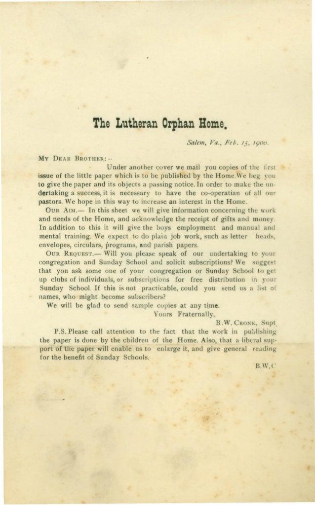 1900  LCHS Messenger newsletter