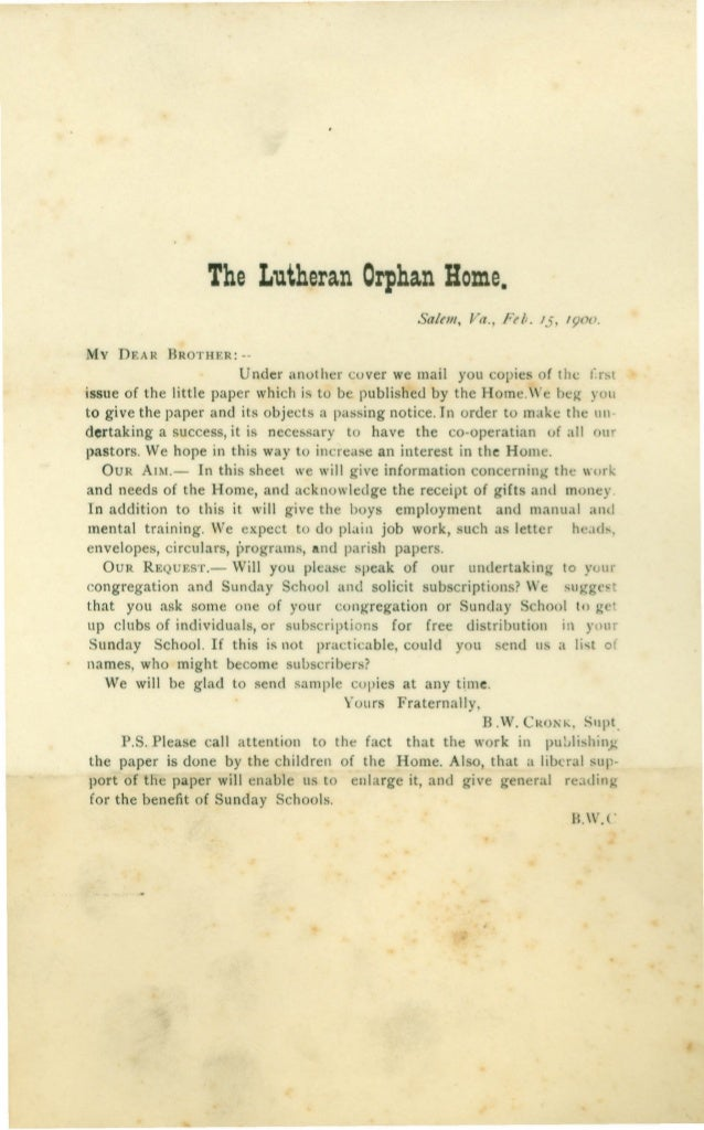 1900  LCHS Messenger newsletter