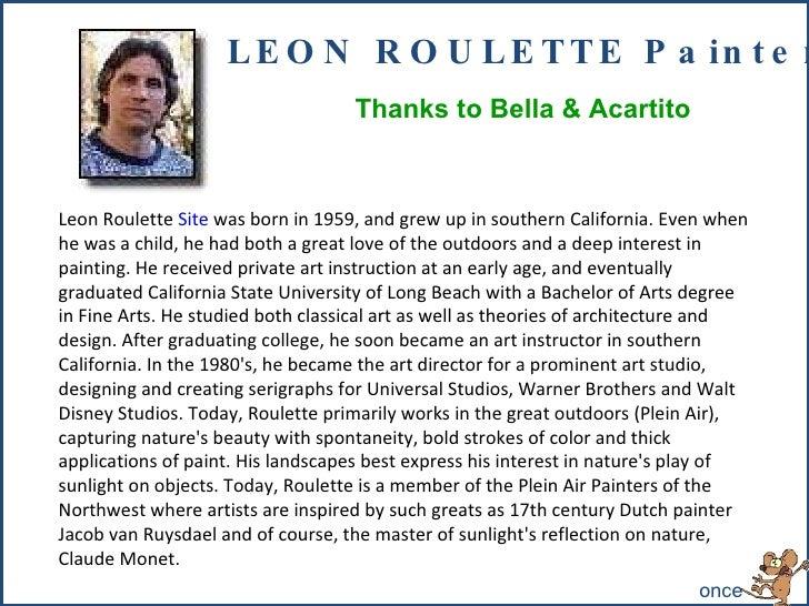 191 - Leon Roulette-painter