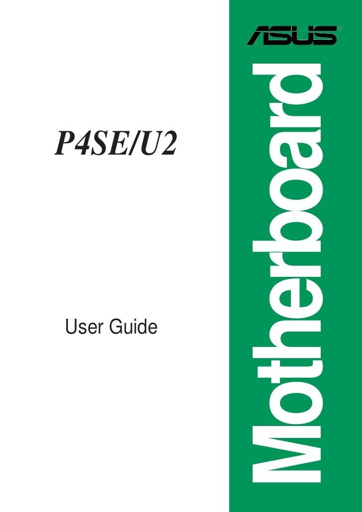 Motherboard P4SE/U2     User Guide