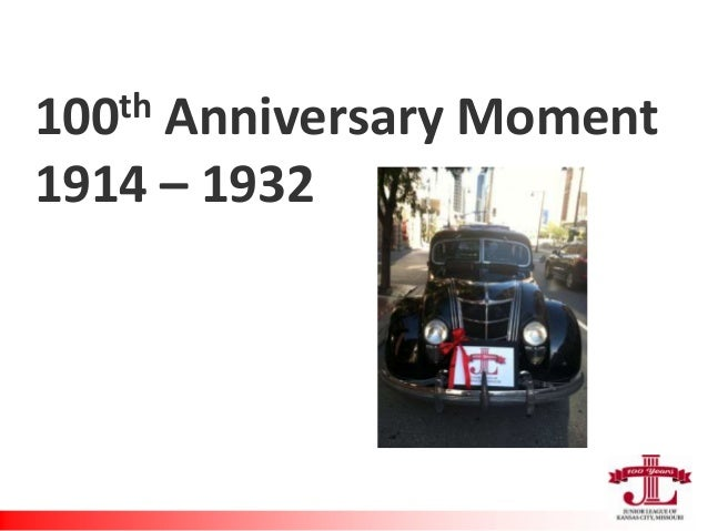 100th Anniversary Moment 1914 – 1932