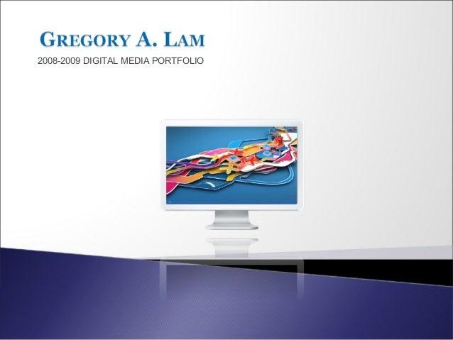 2008-2009 DIGITAL MEDIA PORTFOLIO
