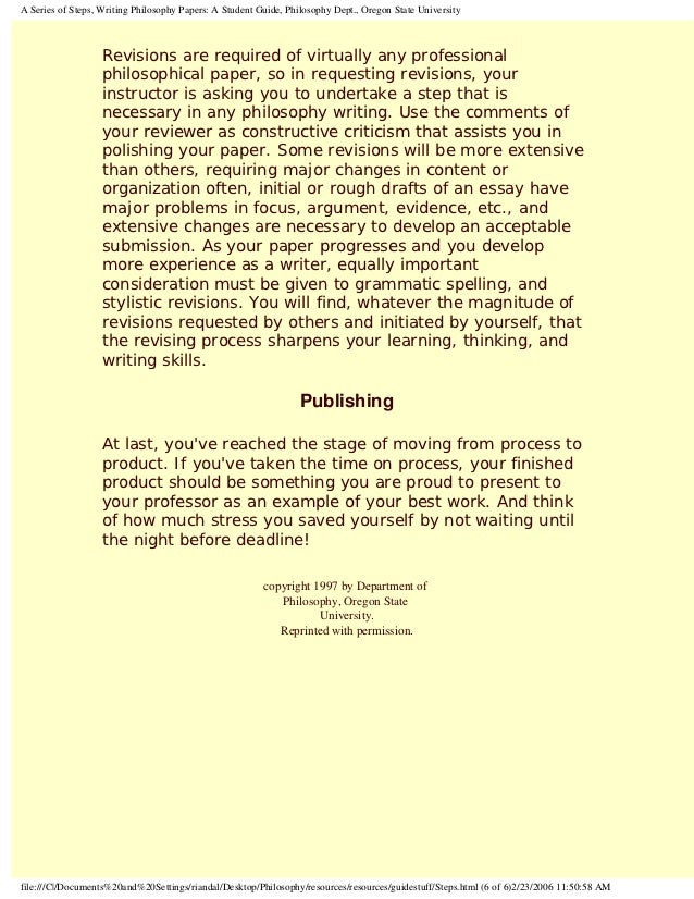 writing philosophy a students guide to writing philosophy essay