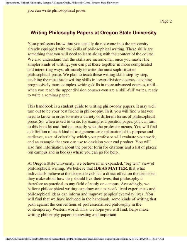 an introduction to the philosophy of writing by the writers Dissertation writing service how do writers work on each paper our dissertation writers are not some random people we have been working with them for years.