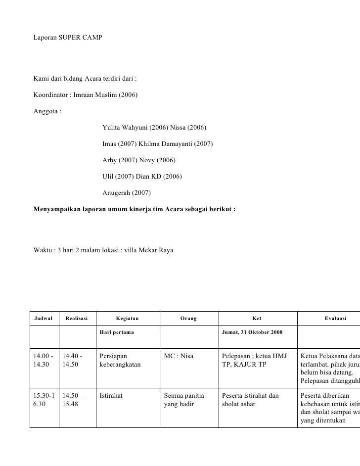 laporan supercamp-full version