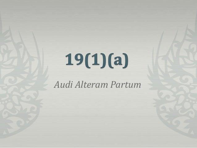 Audi Alteram Partum