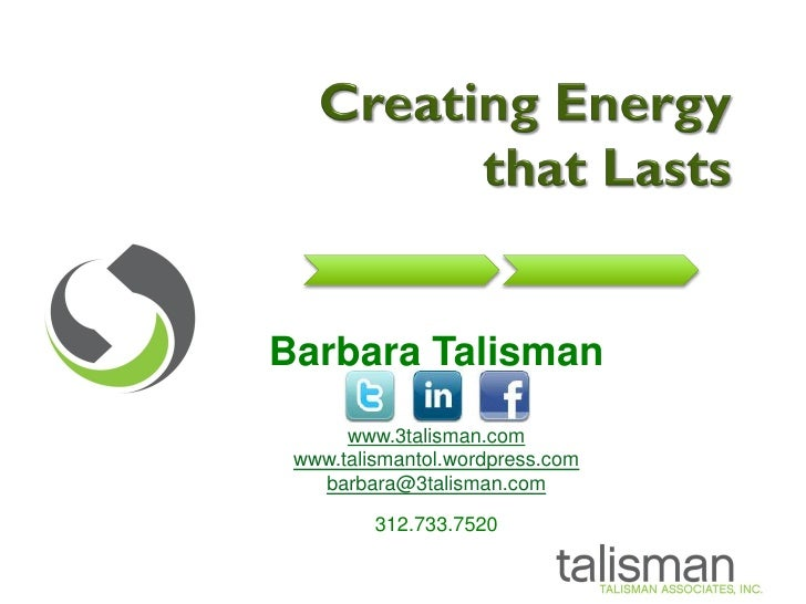 Creating Energy that Lasts