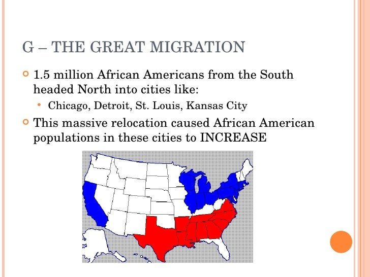 the great african americans migration 1910 to 1920s essay The great migration was the mass movement of about five million southern  blacks to  in the 1920s, another 800,000 blacks left the south, followed by  398,000.
