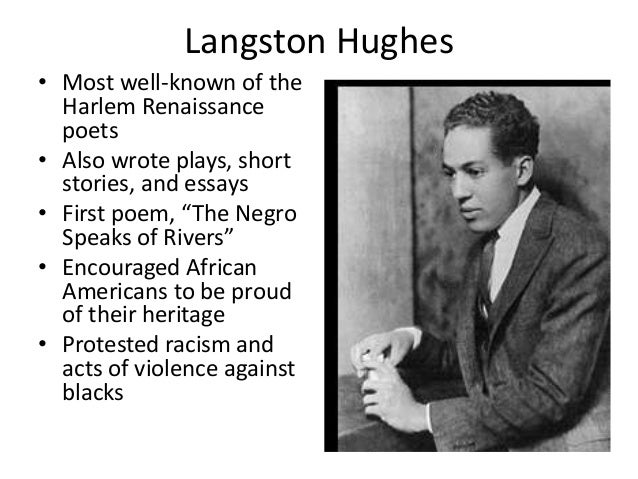 a review of langston hunges poem the negro speaks during the harlem renaissance