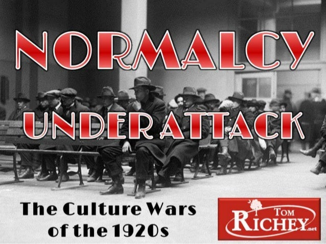 1920s Culture Wars (US History)