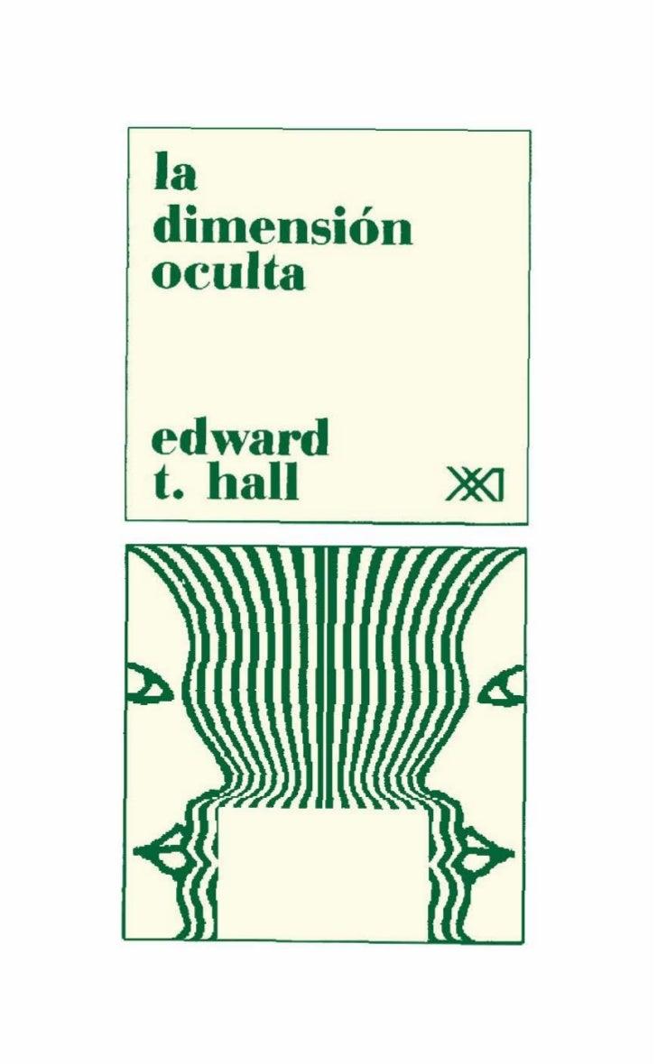 19218913 la-dimension-oculta-edward-t-hall