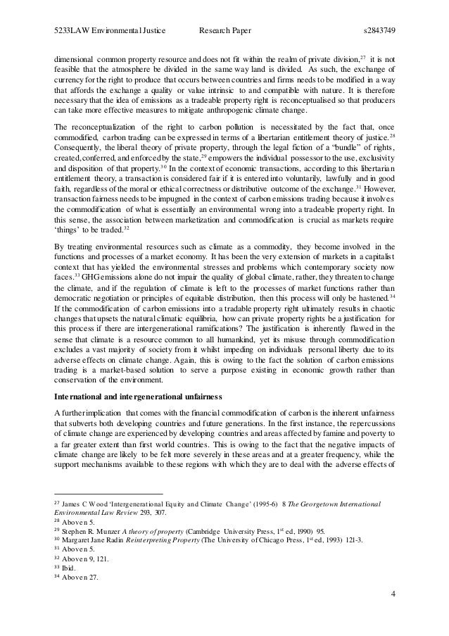Research paper on climate change